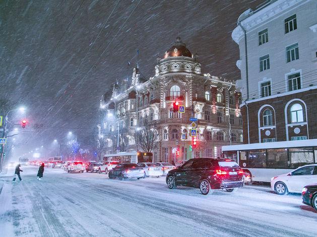 В Ростове ожидается снег и сильный ветер