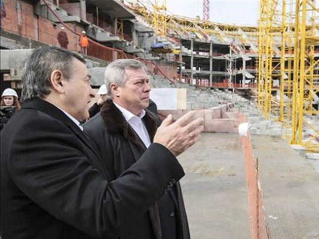 Новый ростовский стадион строят быстрее графика