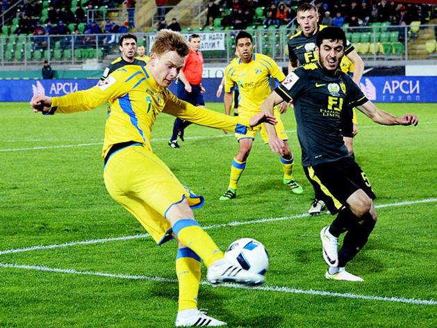 Футболисты «Анжи» и «Ростова» сыграли вничью